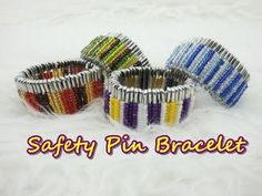 Crafty DIY - Safety Pin Beads Bracelet