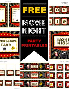 Free Movie Party Printables + Extras!