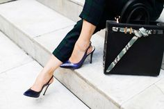 Hold That Thought, Let's Have A Meeting  #Tartan Plaid #Pants #Heels & Wedges #Totes