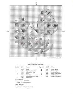 Schema punto croce Quadro Farfalle Fiori G