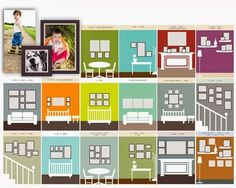 Photo Gallery wall layout designs