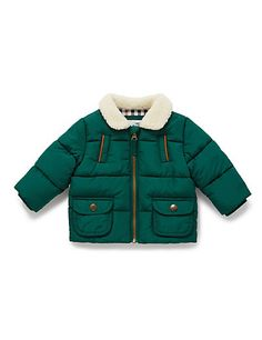 Faux Collar Padded Jacket
