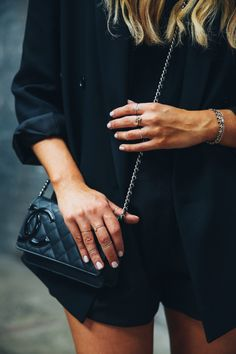 It's All About Those Street Style Vibes via @TheyAllHateUs xx Dressed to Death xx #chanel #black #inspiration