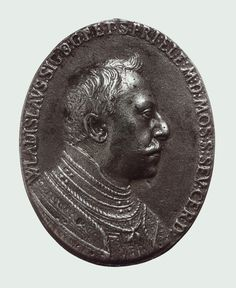 Silver medal of of Prince Ladislaus Sigismund Vasa (obverse) by Alessandro Abondio, 1610s, Kunsthistorisches Museum, in 1609 young Ladislaus was elected Grand Duke of Moscow