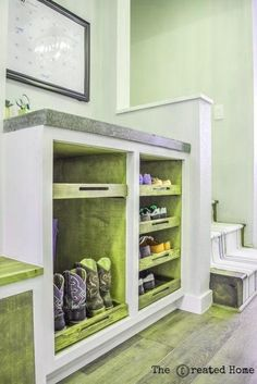 Woodworking Projects Rustic How I used Purebond to give life to my mudroom. These shoe shelves are just one of the amazing things I created in this space..Woodworking Projects Rustic  How I used Purebond to give life to my mudroom. These shoe shelves are just one of the amazing things I created in this space. Awesome Woodworking Ideas, Best Woodworking Tools, Woodworking Workbench, Woodworking Techniques, Easy Woodworking Projects, Woodworking Furniture, Woodworking Classes, Wood Projects, Japanese Woodworking