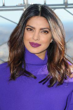 5 Times Priyanka Chopra Gave us Lipstick Goals - Brown Girl Magazine Priyanka Chopra Makeup, Priyanka Chopra Haircut, Priyanka Chopra Short Hair, Hair Dos, My Hair, Claudia Bartelle, Hair 2018, Brown Girl, Bollywood Actress