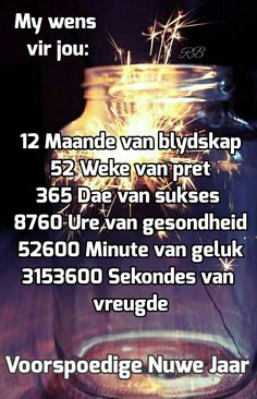 Voorspoedige Nuwe Jaar Happy New Year Fireworks, Happy New Year Gif, Happy New Year Message, Happy New Year Quotes, Happy New Year Greetings, Morning Greetings Quotes, Quotes About New Year, New Year Wishes, Good Morning Wishes