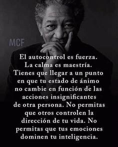 with ・・・ Ya lo sabes. Calma y Autocontrol. Wisdom Quotes, True Quotes, Best Quotes, Motivational Quotes, Happy Quotes, Spanish Inspirational Quotes, Spanish Quotes, Yoga Mantras, Coaching