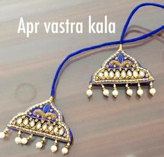 New Blouse Designs, Silk Saree Blouse Designs, Blouse Patterns, Beaded Necklace Patterns, Jewelry Patterns, Aari Embroidery, Embroidery Designs, Saree Tassels Designs, Gold Earrings Designs