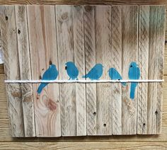 Reclaimed wood pallet painting  Birds on a by MySticksNStonesShop