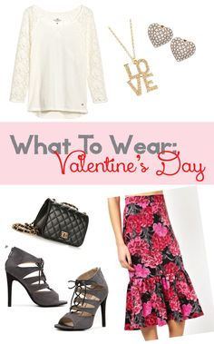 What To Wear: Valentine's Day Outfit #floral #love #heart #lace