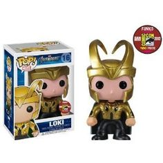 Amazon.com: Funko POP! Marvel Avengers San Diego Comic Con 2012 EXCLUSIVE Golden Loki POP: Toys & Games