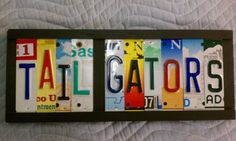 Your place to buy and sell all things handmade License Plate Art, Art Sign, Tag Art, College, Unique Jewelry, Handmade Gifts, Recipes, Etsy, Licence Plate Art