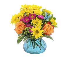 A bright, cheerful combination of daisies, roses and berries, accented with a butterfly. Approximately X As Shown: Order Flutter Arrangement from FANCY PETALS - Defiance, OH Florist & Flower Shop. Flower Delivery Service, Same Day Flower Delivery, Gift Delivery, Beautiful Bouquet Of Flowers, Amazing Flowers, Anniversary Flowers, Flower Cart, Order Flowers Online, Sympathy Flowers