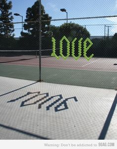 Tennis = Love WANT TO DO!