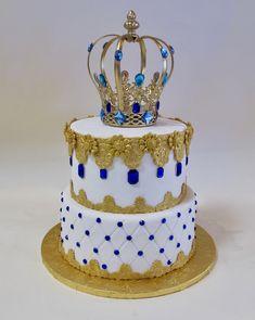 Boys First Birthday Cake, 25th Birthday Cakes, Prince Birthday Party, Adult Birthday Cakes, Wedding Cake Toppers, Wedding Cakes, Sweet 16 Masquerade, Crown Cake, Torte Cake