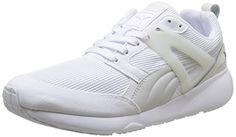 Puma Arial Evolution, Damen Sneaker  Weiß Weiß (White) 40 - http://uhr.haus/puma-6/40-eu-puma-arial-unisex-erwachsene-sneakers-grau-6-7