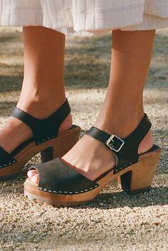 e8292d664fe Greta Clog - Black Leather Heeled Clogs - Heeled Clogs - Black Leather  Clogs Clogs Outfit