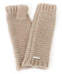 Love this Taupe Metallic Purl-Knit Arm Warmer on #zulily! #zulilyfinds