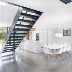 runners house ar design studio 5 Modern Extension Reshaping a Confusing Home Layout in Winchester, UK Design Studio, House Design, Winchester, Bulthaup Kitchen, Escalier Design, English House, House Extensions, Staircase Design, Black Staircase
