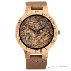 Men Wooden Wrist Watch Nature Sport Bamboo Simple New Arrival Genuine Leather Band Strap Quartz Watch Wooden Man, Wooden Teething Ring, Wooden Watches For Men, Skeleton Watches, Great Gifts For Men, Quartz Watch, Wood Watch, Leather, Sport