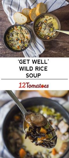 'Get Well' Wild Rice Soup 2 boxes uncle bens wild rice 2 season packets sage Gourmet Recipes, Soup Recipes, Cooking Recipes, Healthy Recipes, Potato Recipes, Delicious Recipes, Recipies, Yummy Food, Soup And Sandwich