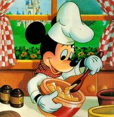 Mickey Baking in The Kitchen