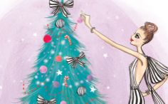 Christmas fashion illustration for Chateau Boutique by Melissa Bailey