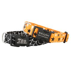 Need something festive for your pup this Halloween? The Personalized Buckle Glow in the Dark Halloween Collar is perfect for any spooky-spirited pet!