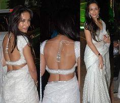 White sari, love it!