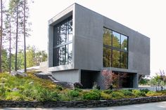 Suomen kaunein koti Minimal Architecture, Concrete Houses, Home Fashion, Minimalist Home, Modern House Design, Minimalism, Design Inspiration, Mansions, House Styles