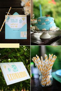 Love the color combo and the cake is divine! :D