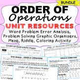 ORDER OF OPERATIONS Error Analysis, Problem Solving Graphi