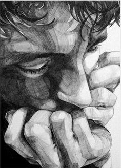Sara Zin ballpoint pen drawing