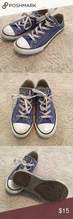YOUTH GIRLS PURPLE CONVERSE Periwinkle Converse. Size youth girls 3. Pretty worn but if you give them a good cleaning they will be looking good as new! Very cute color, gotten a lot of compliments on them! Converse Shoes Sneakers