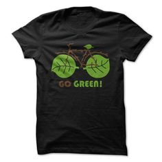 Go Green bike T Shirts, Hoodies. Check price ==► https://www.sunfrog.com/Automotive/Go-Green-bike.html?41382 $19