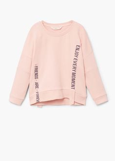 Discover the latest trends in Mango fashion, footwear and accessories. Trendy Outfits, Kids Outfits, Cool Outfits, Little Girl Fashion, Fashion Kids, Fashion 2016, Sweat Shirt, Latest Tops For Girls, Middle School Outfits
