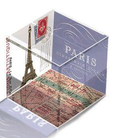 Look at this #zulilyfind! Paris Travel Cube Paperweight by Fringe Studio #zulilyfinds