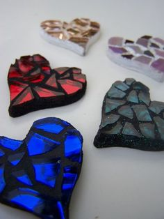 Beautiful hearts by Glittering Shards; great website/blog