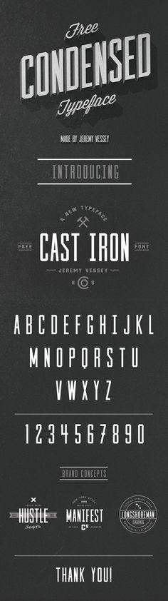 Cast Iron (Free Typeface) on Behance