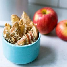 A healthier apple crisp recipe baked apple sticks recipe. #healthyeating #goodfood #healthyrecipe #taste