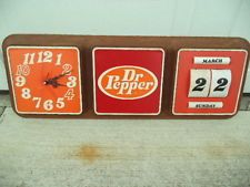 """Vintage Dr. Pepper Battery Operated Clock             27"""" X 10"""""""