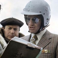 """Class Golden Era on Instagram: """"Monsieur Jean-Paul Belmondo on the set of ''Ho !'' in 1968 wearing a helmet and a suit before getting behind the wheel of a Matra. Don't…"""""""