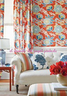 MONTEREY Colección que ofrece una variedad de patrones frescos con un ambiente bohemio en fuertes colores y confortables.