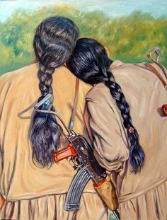 kurdish soldiers-pkk by jasmkurdish