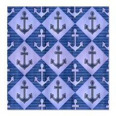Blue Anchors Shower Curtains by cheriverymery