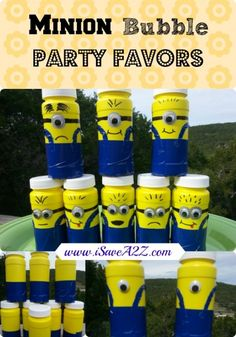 Minion Bubble Party Favors - 25+ minion party ideas - NoBiggie.net