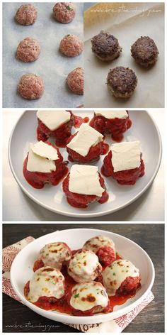 Recipe Best: Low Carb Meatballs alla Parmigiana  151 cals, 9g fat, 1.7g net carbs, 12g protein