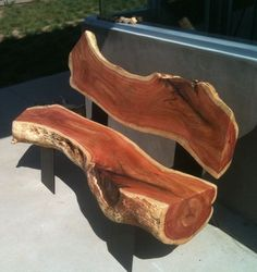 Salvaged carob bench
