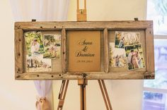 Old window frame on a rustic wedding - Oh Happy Day! Happy Day, Liquor Cabinet, Rustic Wedding, Wedding Decorations, Window, Frame, Furniture, Home Decor, Picture Frame